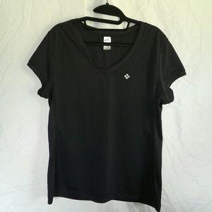 Sports Black Short Sleeve Top Size 16 Large
